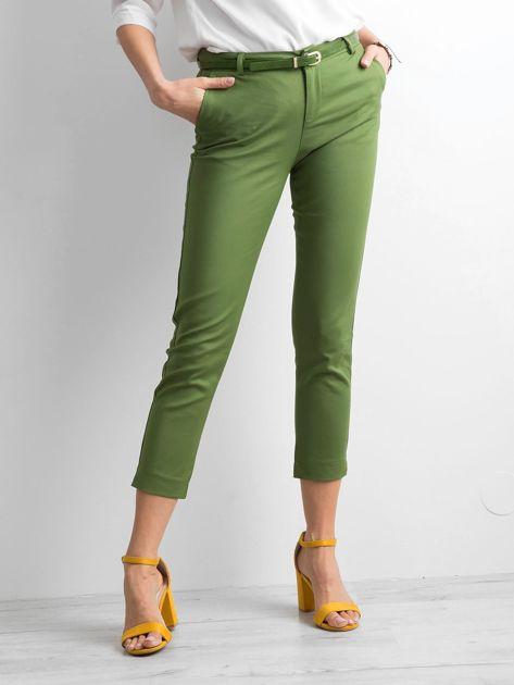 Zielone klasyczne spodnie 7/8                              zdj.                              1
