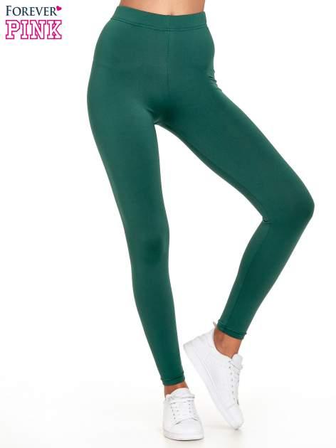 Zielone legginsy basic z lekkim ociepleniem                                  zdj.                                  1