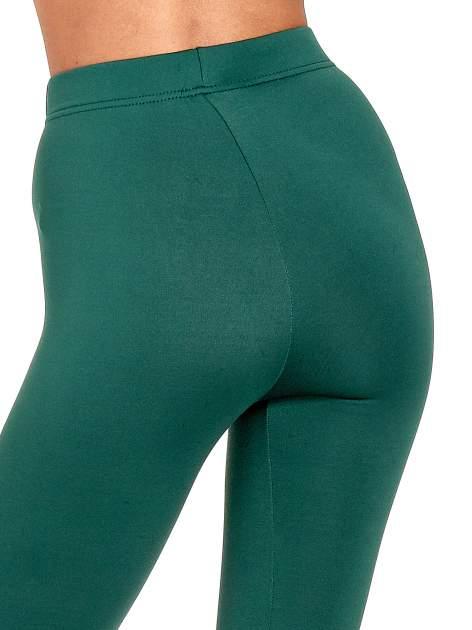 Zielone legginsy basic z lekkim ociepleniem                                  zdj.                                  7