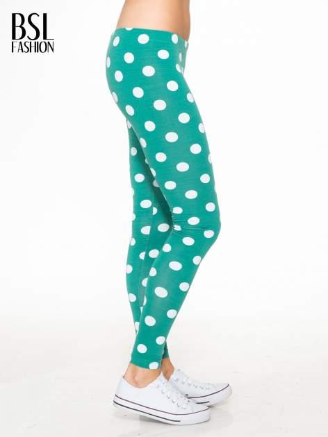 Zielone legginsy w grochy                                  zdj.                                  3