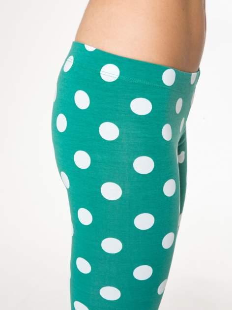Zielone legginsy w grochy                                  zdj.                                  6