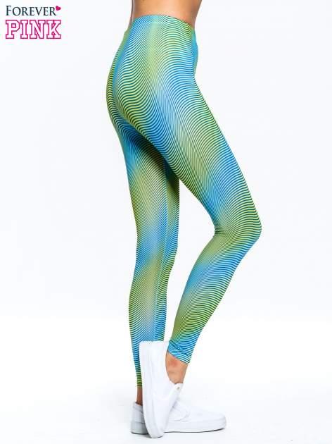 Zielone legginsy w modelujące paski                                  zdj.                                  3