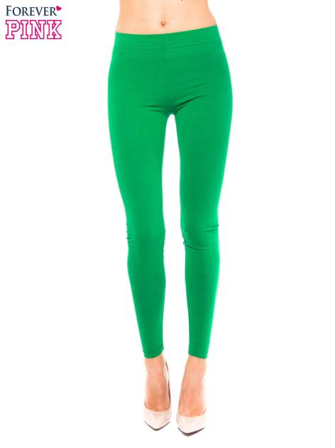 Zielone legginsy z bawełny
