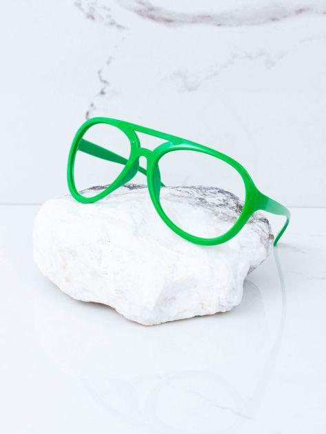 Zielone okulary bez szkieł                              zdj.                              2