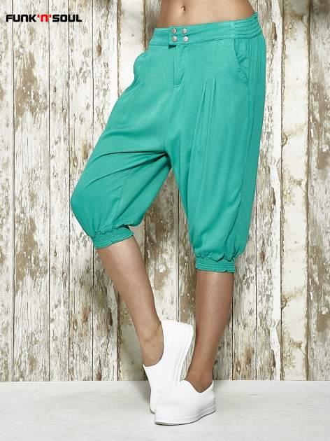 Zielone spodnie alladynki z bocznymi kieszeniami FUNK N SOUL                                  zdj.                                  1