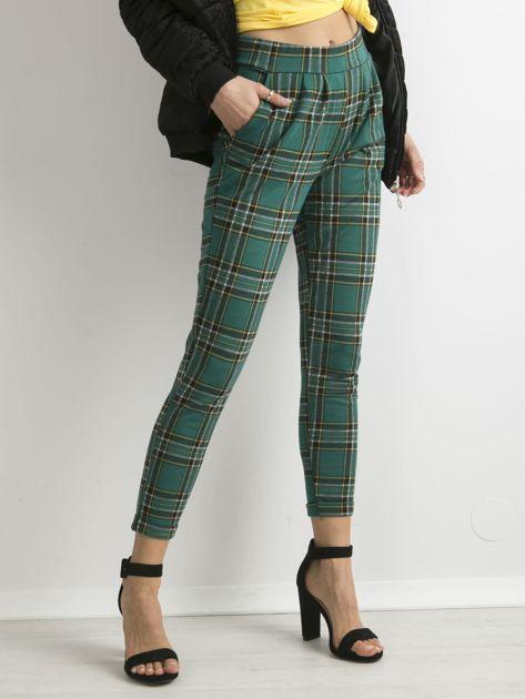 Zielone spodnie w kratę                              zdj.                              5