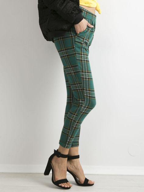 Zielone spodnie w kratę                              zdj.                              3