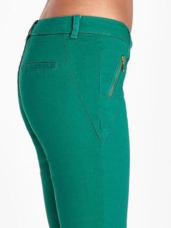 Zielone spodnie ze złotymi suwakami                                  zdj.                                  5