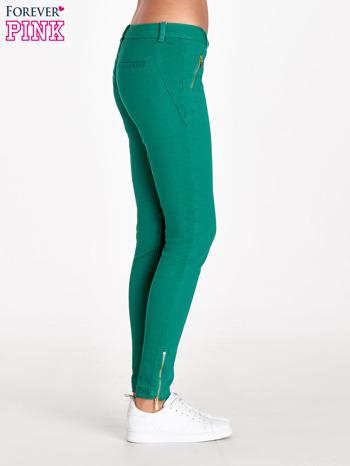 Zielone spodnie ze złotymi suwakami                                  zdj.                                  3