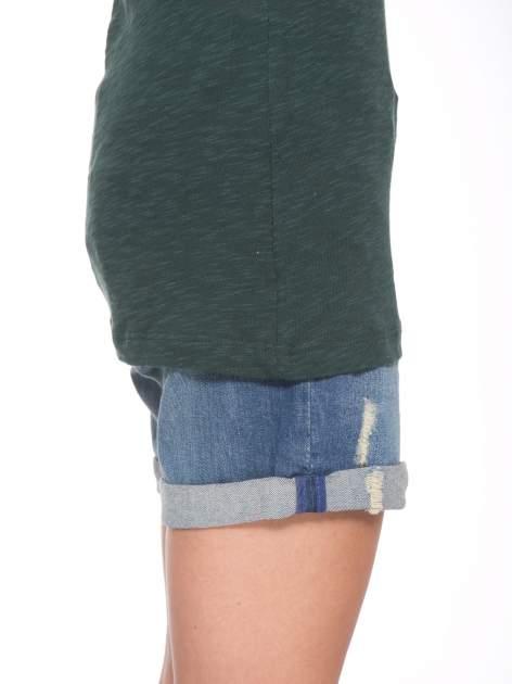 Zielone t-shirt z nadrukiem NOPE                                  zdj.                                  7