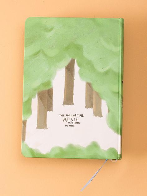 Zielony notes w twardej oprawie                              zdj.                              2