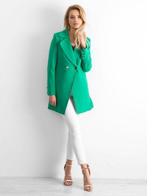 Zielony płaszcz Secret                              zdj.                              4