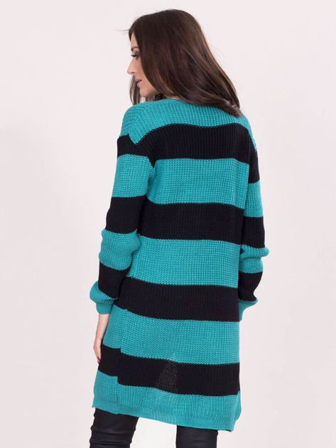 Zielony sweter w pasy                              zdj.                              2
