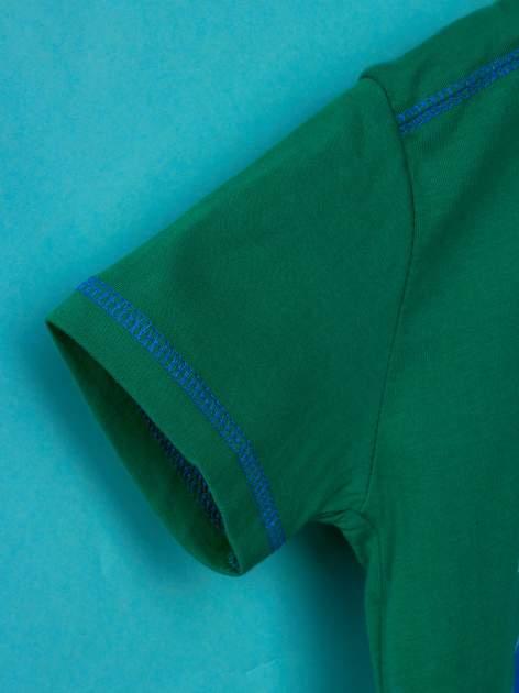 Zielony t-shirt chłopięcy PINGWINY Z MADAGASKARU                                  zdj.                                  6