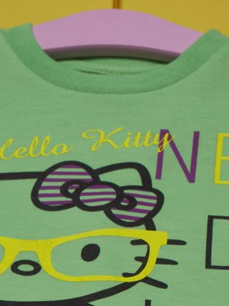 Zielony t-shirt dla dziewczynki HELLO KITTY                                  zdj.                                  4