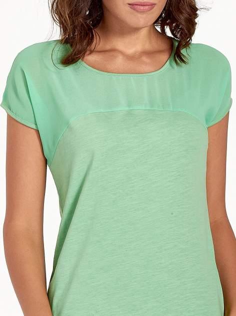 Zielony t-shirt z górą mgiełką                                  zdj.                                  6