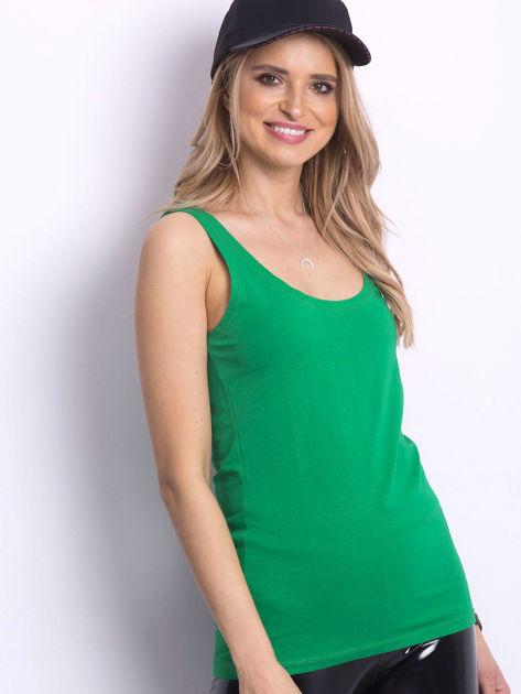 Zielony top damski basic