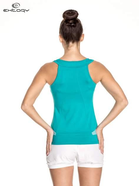 Zielony top sportowy na fitness                                  zdj.                                  4