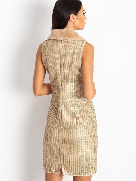 Złota sukienka Boost                              zdj.                              2