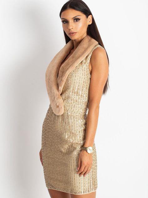 Złota sukienka Boost                              zdj.                              3