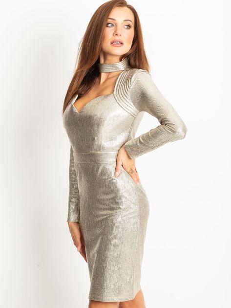 Złota sukienka Sparkle                              zdj.                              3