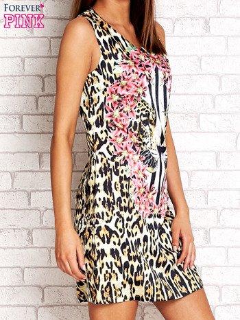Złota sukienka z motywem pantery                                  zdj.                                  3