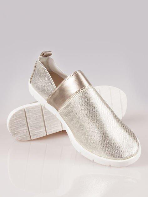 Złote buty slippers Dakota na traktorowej podeszwie                                  zdj.                                  4