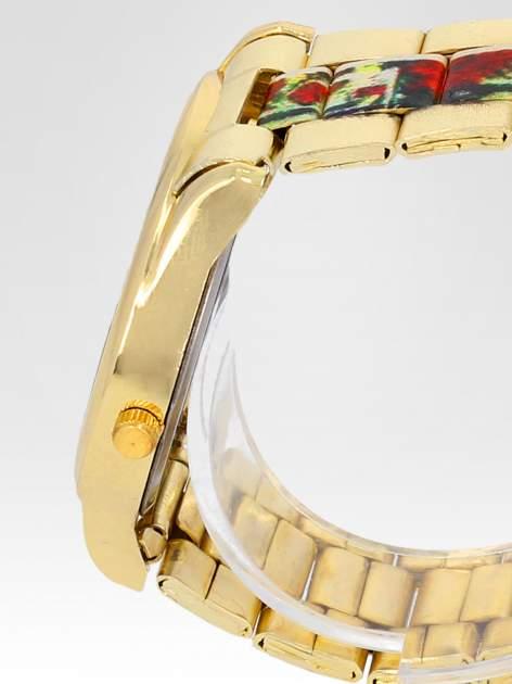 Złoty zegarek damski na bransolecie z motywem Paryża                                  zdj.                                  3