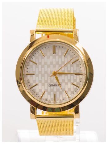 Złoty zegarek damski na metalowej bransolecie                                  zdj.                                  1