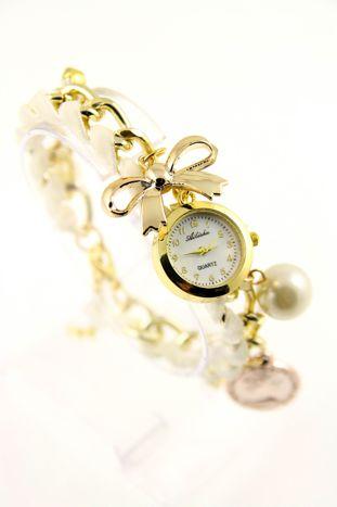 Złoty zegarek damski na złotej  bransolecie