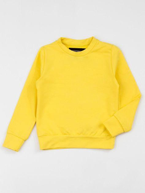 Żółta bluza dziecięca basic                              zdj.                              1