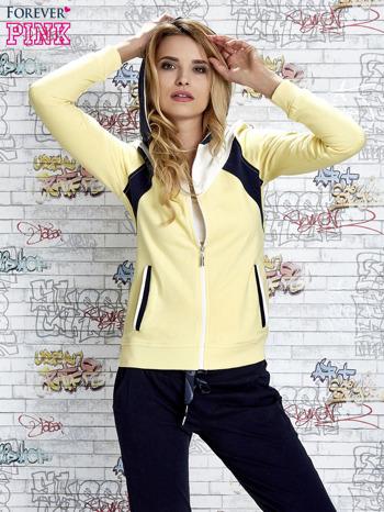 Żółta bluza z granatowymi wstawkami                                  zdj.                                  1