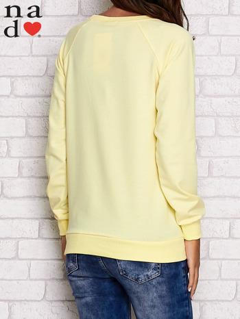 Żółta bluza z motywem Wieży Eiffla                                  zdj.                                  4