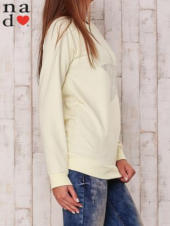 Żółta bluza z nadrukiem gwiazdy                                  zdj.                                  3