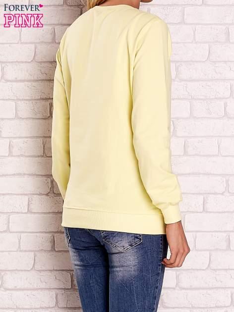 Żółta bluza z nadrukiem łapacza snów                                  zdj.                                  2
