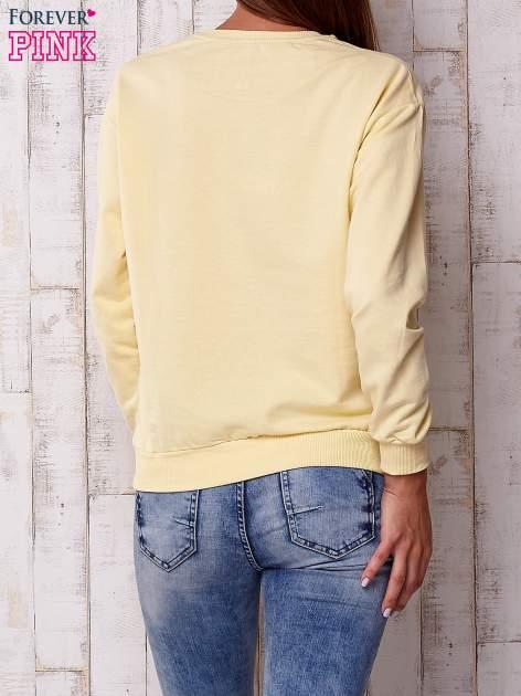 Żółta bluza z napisem                                  zdj.                                  5