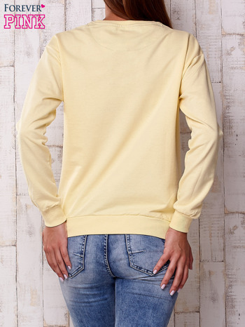 Żółta bluza z napisem NEW YORK CHAMPIONSHIP                                  zdj.                                  2