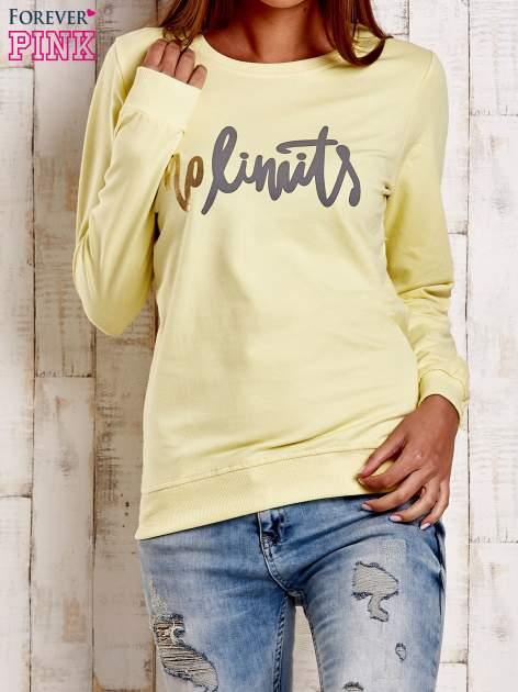 Żółta bluza z napisem NO LIMITS