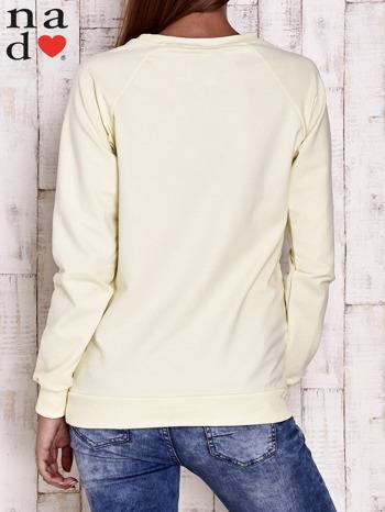 Żółta bluza z napisem PARADISE                                  zdj.                                  4