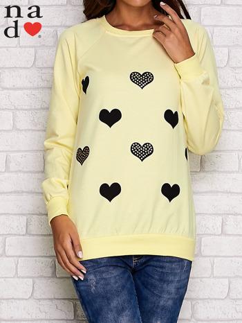 Żółta bluza z serduszkami                                  zdj.                                  1