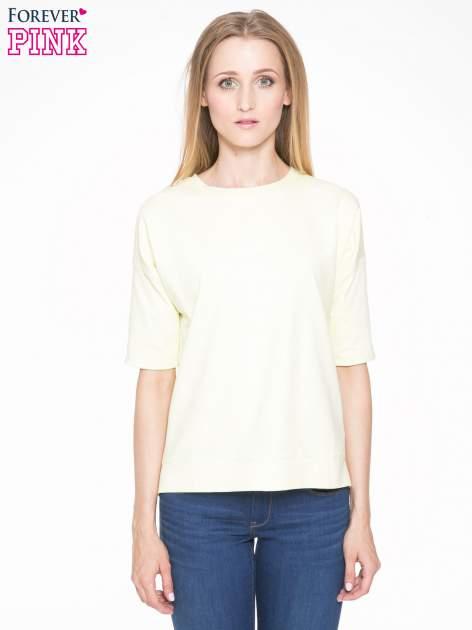Żółta bluza z suwakiem z tyłu                                  zdj.                                  1