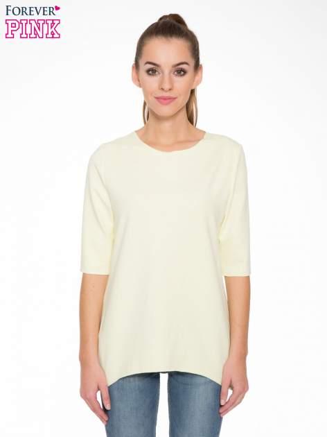 Żółta bluza z wydłużanymi bokami
