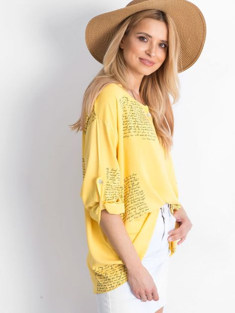 Żółta bluzka Happines                              zdj.                              3