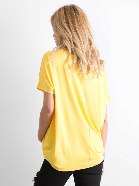 Żółta bluzka Oversize                              zdj.                              2