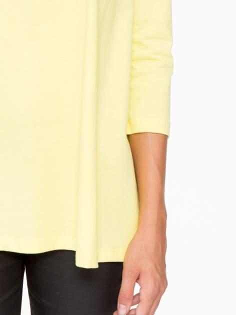 Żółta bluzka o rozkloszowanym kroju z rękawem 3/4                                  zdj.                                  7