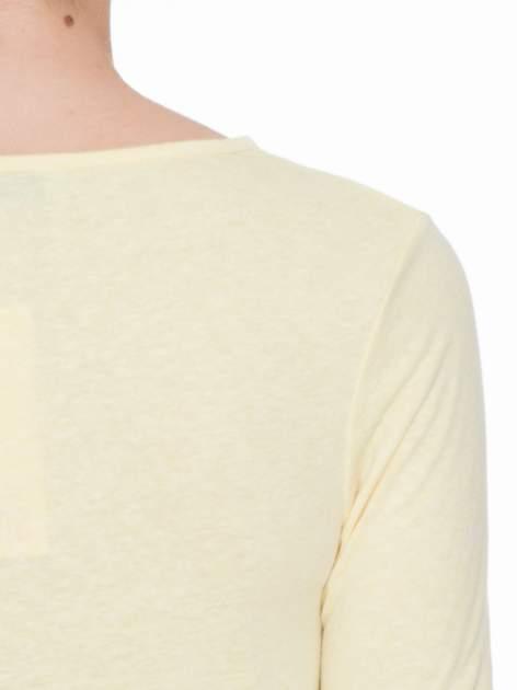 Żółta bluzka z długim rękawem z bawełny                                  zdj.                                  5