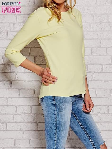 Żółta bluzka z kokardką z tyłu                                  zdj.                                  3