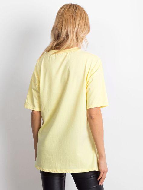 Żółta bluzka z naszywką                              zdj.                              2