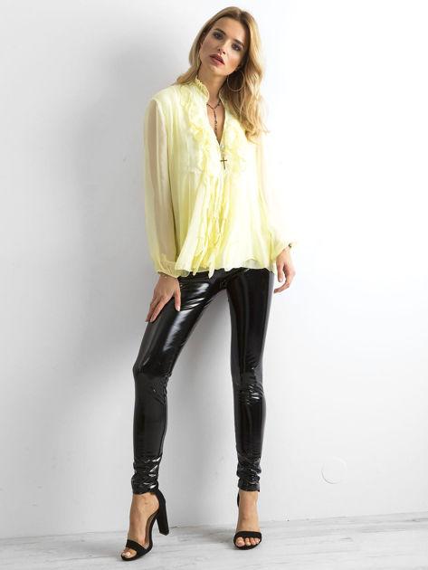 Żółta bluzka z żabotem                              zdj.                              4