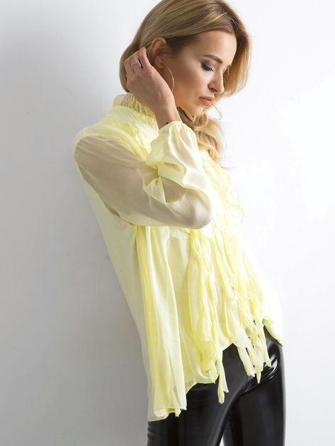 Żółta bluzka z żabotem                              zdj.                              3
